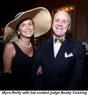 Blog 8 - Myra Reilly with hat contest judge Bunky Cushing
