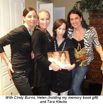 Blog 4 - With Cindy Burns, Helen (with my memory book gift) and Tara Klecka