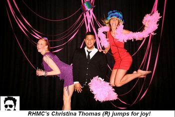 Blog 1 - RMHC's Christina Thomas (R) jumps for joy!