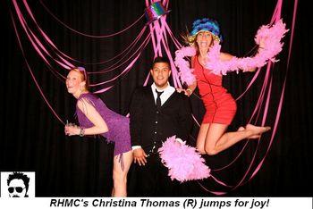Blog 1 - RMHC's Christina Thomas (R) jumps for joy!