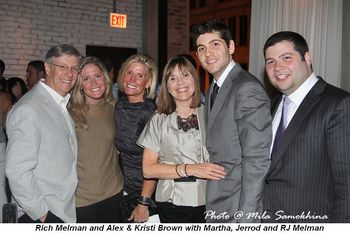 Blog 2 - Rich Melman, Alex and Kristi Brown, Martha, Jerrod and RJ Melman