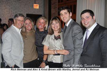 Blog 2 - Rich Melman, Alex and Kristi Brown, Martha, Jerrod and RJ Melman