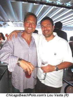 Blog 5 - ChicagoBeachPolo.com's Lou Vasta (R) and friend