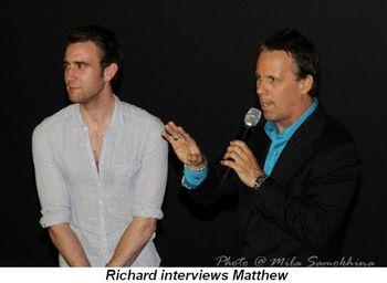 Blog 14 - Richard interviews Matthew