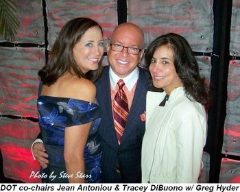 Blog 1 - DOT Co-chairs Jean Antoniou and Tracey Di Buono with Greg Hyder