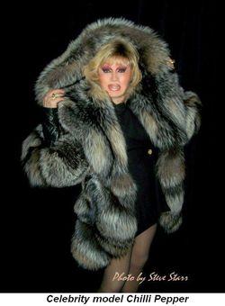 Blog 3 - Celebrity model Chilli Pepper