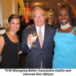 Blog 2 - TCW Mng. Editor Cassandra Gaddo, Ken Norgan and honoree Dori Wilson