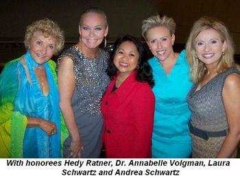 Blog 3 - With honorees Hedy Ratner, Dr. Annabelle Volgman
