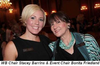 Blog 1 - WB Chair Stacey Barrins and Event Chair Bonita Friedland