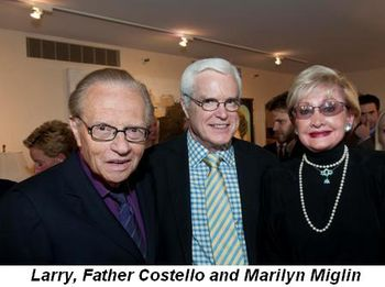Blog 14 - Larry, Father Costello and Marilyn Miglin