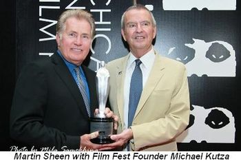Blog 1 - Honoree Martin Sheen with Film Fest founder Michael Kutza
