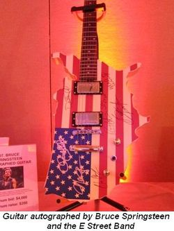 Blog 13 - Guitar autographed by Bruce Springsteen and the E Street Band