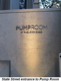 Blog 9 - State St. entrance to Pump Room