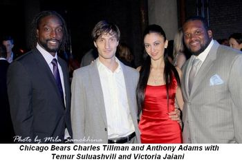 Blog 5 - Bears Charles Tillman and Anthony Adams with Victoria Jaiani and Temur Suluashvili