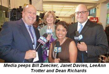 Blog 4 - Media peeps Bill Zwecker, Janet Davies, LeeAnn Trotter and Dean Richards