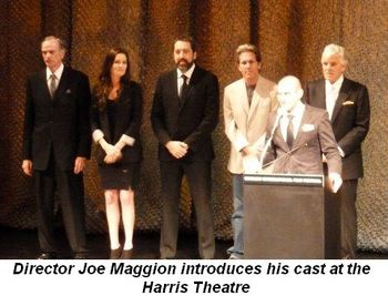 Director Maggio introduces cast at Harris Theatre