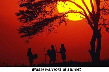 Blog 4 - Maasai warriors at sunset