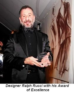 Blog 2 - Designer Ralph Rucci with his Award of Excellence