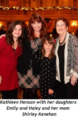 Blog 6 - Emily, Kathleen and Haley Henson with mom Shirley Kenehan