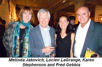 Blog 1 - Melinda Jakovich, Lucien LaGrange, Karen Stephenson and Fred Gebbia