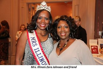 Blog 4 - Mrs. Illinois Zara Johnson and friend