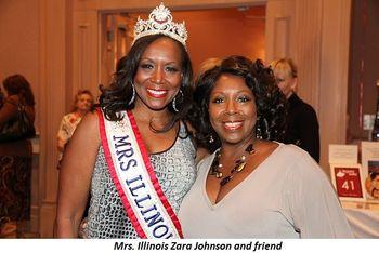 Blog 4 - Mrs. Illinois Zara Johnson and friend