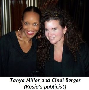Blog 6 - Tanya Miller and Cindi Berger (Rosie'spublicist)