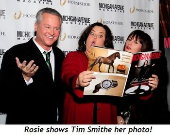 Blog 8 - Rosie shows Tim Smithe her photo!