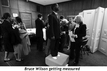 Blog 2 - Bruce Wilson getting measured