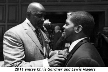 Blog 4 - 2011 emcee Chris Gardner and Lewis Magers