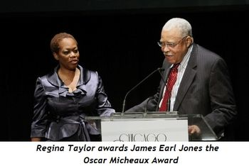 Blog 2 - Regina Taylor awards James Earl Jones the Oscar Micheaux Award