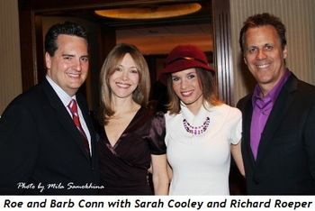 Blog 7 - Emcees Roe Conn (Barb) and Richard Roeper (Sarah Cooley)