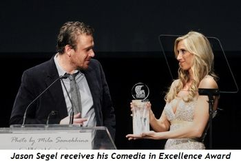Blog 13 - Jason Segel receives his Comedia in Excellence Award