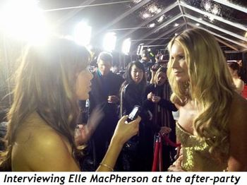 Blog 5 - Interviewing Elle MacPherson at after-party