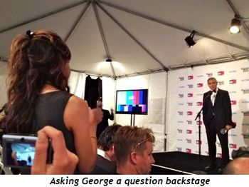 Blog 7 - Asking George a question backstage