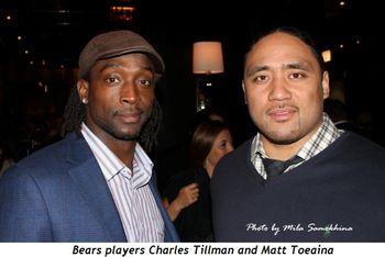 Blog 3 - Bears players Charles Tillman and Matt Toeaina