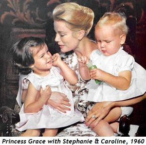 Blog 4 - Princess Grace with Stephanie and Caroline, 1960