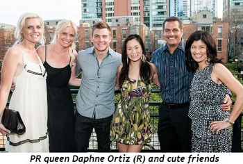 Blog 2 - PR Queen Daphne Ortiz (R) and cute friends