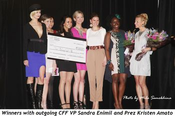 Blog 8 - Winners with outgoing CFF VP Sandra Enimil and Prez Kristen Amato