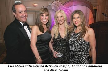 Blog 2 - Gus Abello, FFF President and the three gala chairs of 2011_ (Melissa Kelz Ben-Joseph, Christine Cantalupo, and Alisa Bloom