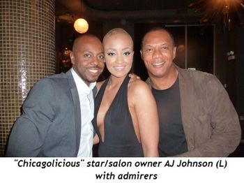 Blog 1 - Chicagolicious star-salon owner AJ Johnson (L) with admirers