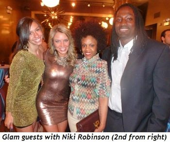 Blog 4 - Glam guests with Niki Robinson (2nd from R)