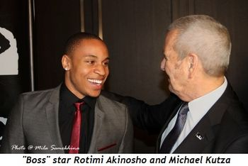 Blog 12 - Boss star Rotimi Akinosho and Michael Kutza