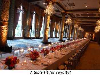 Blog 4 - A table fit for royalty!