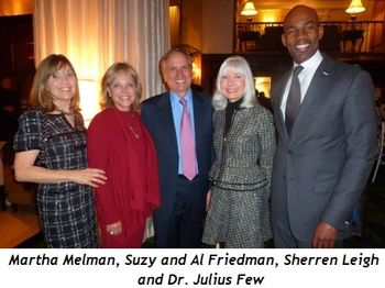 Blog 8 - Molly Melman, Suzy and Al Friedman, Sherren Leigh and Dr. Julius Few