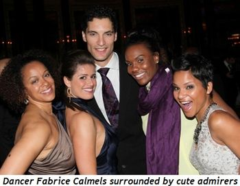 Blog 11 - Dancer Fabrice Calmels surrounded by cute admirers