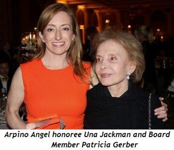 Blog 12 - Arpino Angel honoree Una Jackman and Board member Patricia Gerber
