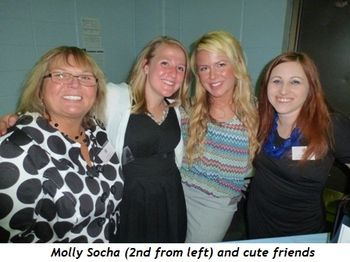 Blog 2 - Molly Socha (2nd from L) and cute friends