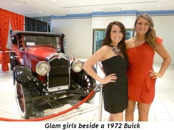 Blog 6 - Glam girls beside 1927 Buick