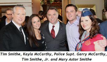 Blog 1 - Tim Smithe, Kyla McCarthy, Police Supt. Garry McCarthy, Tim Jr. and Mary Astor Smithe